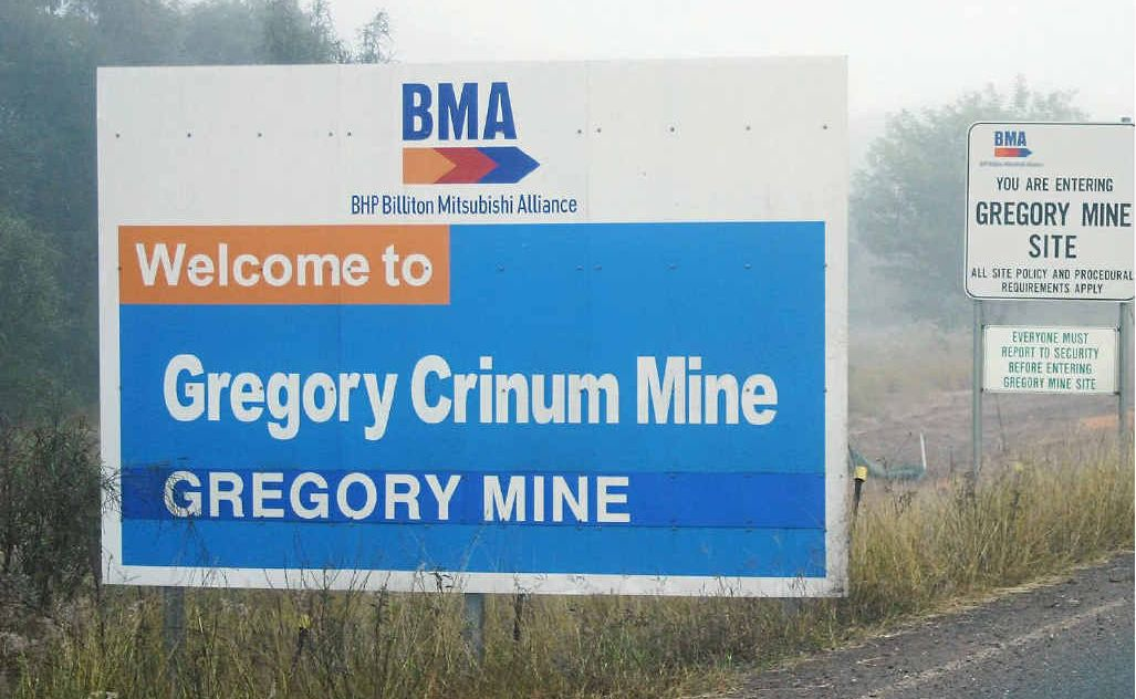 Gregory Crinum mine north of Emerald has dropped 100 positions.