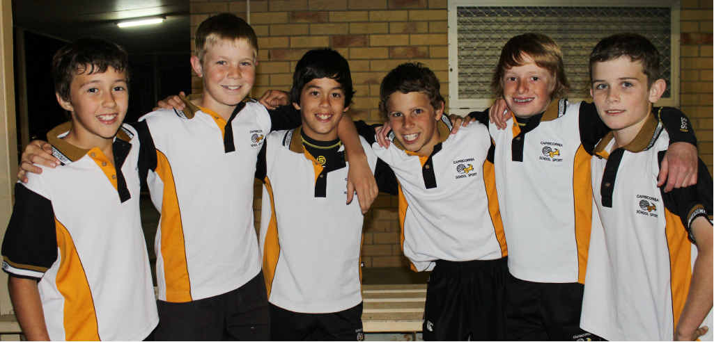 The Emerald boys who are heading to Brisbane today to compete at the State Championships for Capricornia.