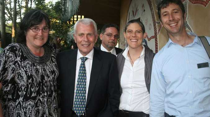 Leisa Hoffman with mental health academic and visionary for change, Anthony Stratford from MIND Australia, LEP participant Gary Shalala Hudson, Meaghan Vosz and Tony Davies from the Northern Rivers Social Development Council.