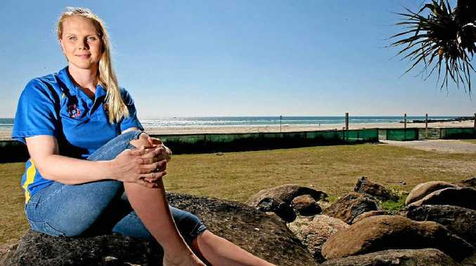 Kirra Surf Club's Surf Girl entrant Stacey Ferreira.