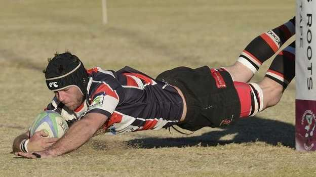 Waide Brennan scores a try for Rangers in their semi-final victory on Saturday.