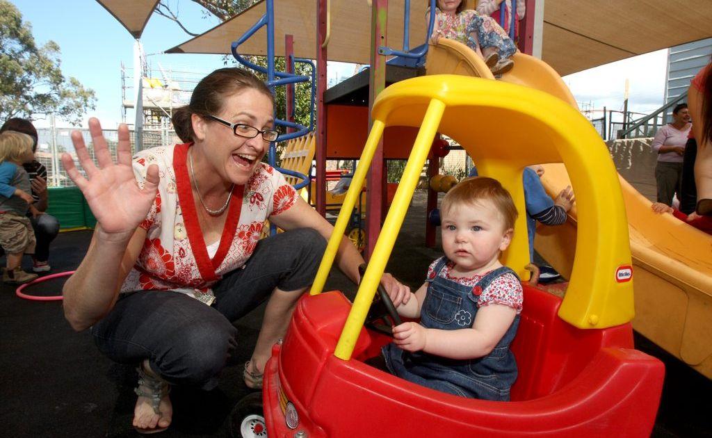 Mum Rachael Dean with bub Ella having fun at the Pottsville Beach Neighbourhood Centre.