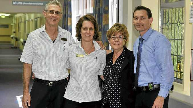 Alan Hickey,Wendy McKey, Beth Bulmer and Peter Reid from St Vincent's palliative care unit in Lismore.