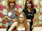 Kelsie Rimmer (centre) will perform at a cancer research fundraiser organised by Elenbi hair salon owner Leigh McGahey (left) and staff, including senior stylist Shaya Furner.