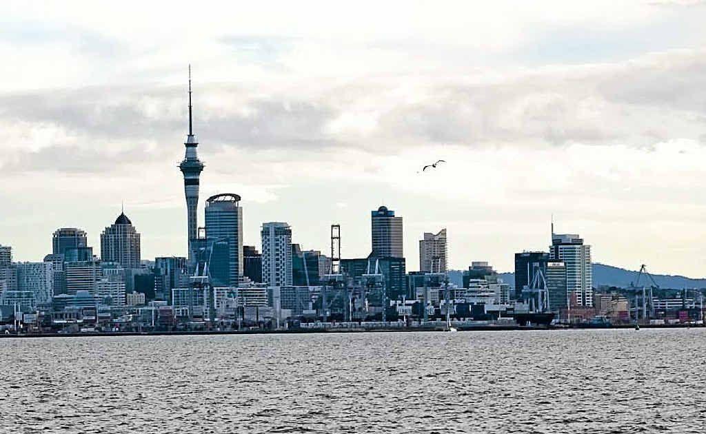Skyline from Hauraki Gulf.