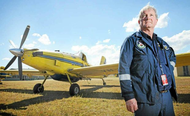 Pays Air Service water bomber pilot Paul Knight at Casino airfield after a busy weekend.