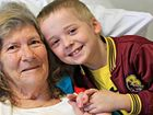 Jai Timms with his nana, Marg Clark. Despite the shock of finding her motionless Jai called 000 to help save her life.