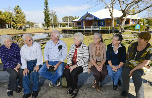 Clocktower Gallery members, from left: Haze and George Castrissios, Bernie Kenny, Joyce Campbell, Barbara Teare and Maureen O'Shea. The gallery members have been told to move out of Tourist Information Centre in South Grafton.
