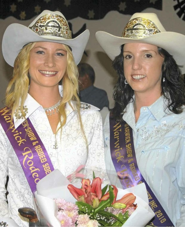 Warwick Rodeo Queen 2011 Tammie Conroy and 2010 Kate Christensen.