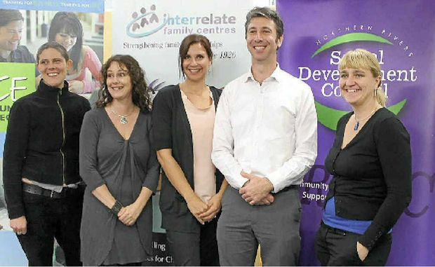 BALL LAUNCH: (from left) NRSDC's Meaghan Vosz, Linda Mills, Emma Ross, Tony Davies and Liina Flynn.