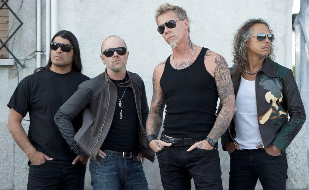 Metallica (drummer Lars Ulrich is second from left)