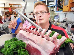 Butchers sharpen knifes for war