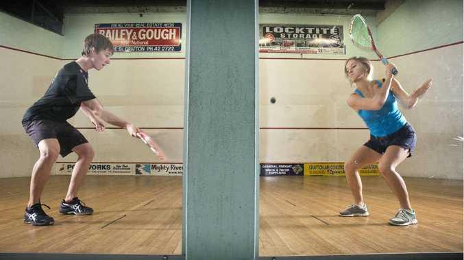 Locals Nicholas Harris, 16, and Moana Gray, 17, are playing in Trans-Tasman Squash Championships at Grafton next week.
