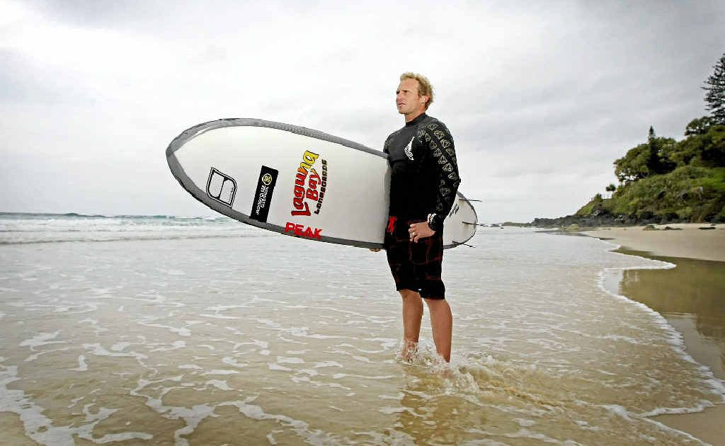 Newly crowned Australian longboard champion Jackson Close admires the view at Greenmount Beach. Close used his surfing nous to ensure he snared the best waves at North Haven to claim the title.