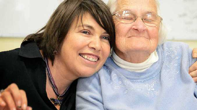 Jenny Sheldon (left), who has fully recovered from a stroke, pictured with Bev Adwell at The BCS Maranoa Centre in Alstonville.