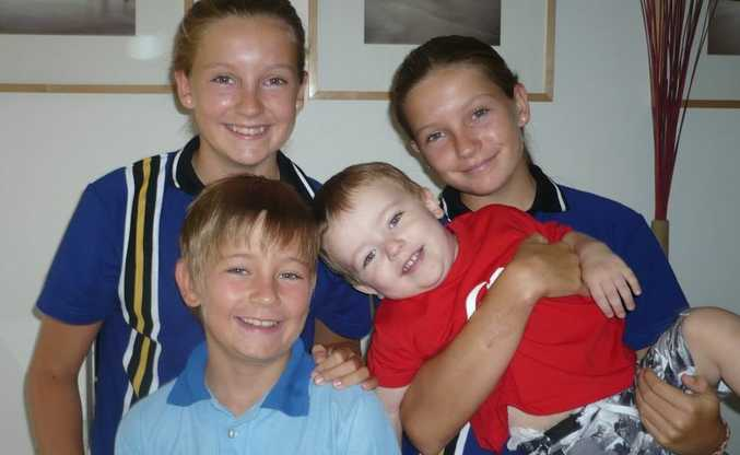 Katrina Day's children Kate and Sophie, 13, Will, 10, and Tom, 2.