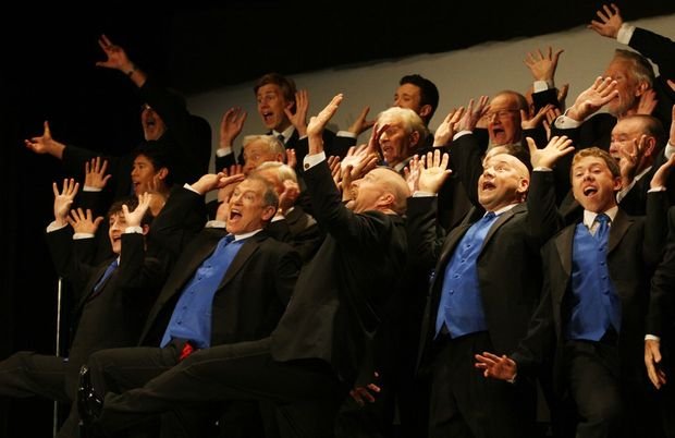 "Singfest 2012- ""Blenders"" put on a show Photo- Blainey Woodham / Daily News"