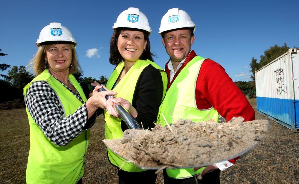 Diane Blanckensee, Justine Elliott and Austin Sterne on site at the region's new super clinic.