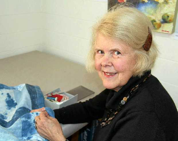 Warwick Artists Group Clare Cotton said she would have more time to work on her textile pieces thanks to the council grant.