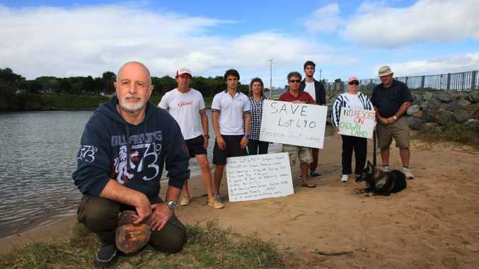 Residents who have been fighting to save Lot 490, at Kingscliff.