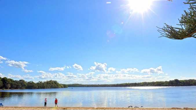 Coast locals enjoy a spot of fishing and the beautiful August weather at Currimundi Lake.