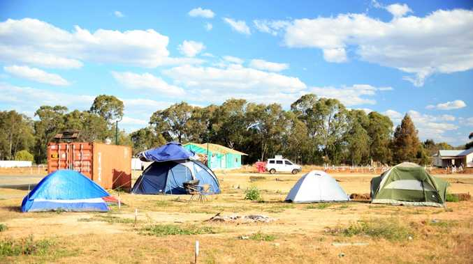 A housing shortage is forcing workers in Chinchilla to pitch tents on vacant land.