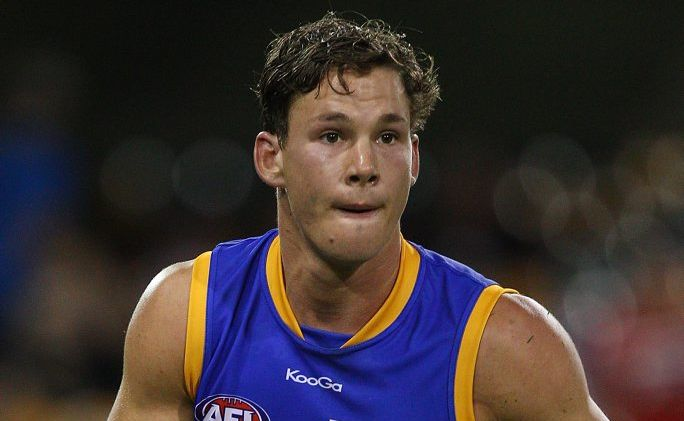 Jack Redden of the Lions in action during the round two AFL match between the Brisbane Lions and the Carlton Blues at The Gabba on April 5, 2012 in Brisbane, Australia.