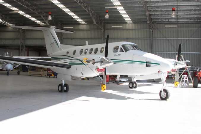 Beechcraft King Air 200 twin-turbine.