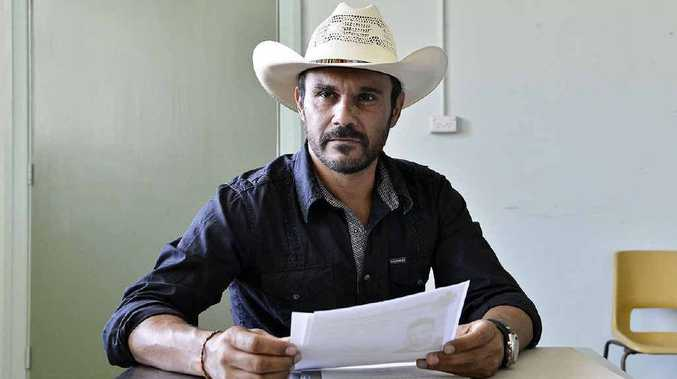 Actor Aaron Pedersen plays a detective and Tony Barry a police sergeant in Ivan Sen's thriller Mystery Road which was filmed at the old Ipswich police station. Fellow actor Hugo Weaving is also part of the cast in Ipswich.