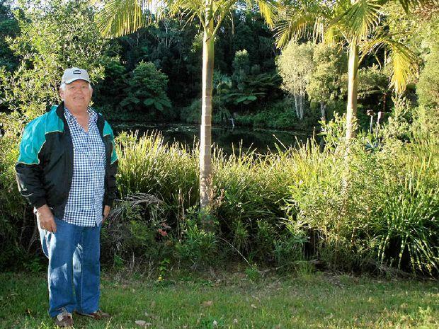 GREEN GUARDIAN: Rex Harris on his property near Bangalow.