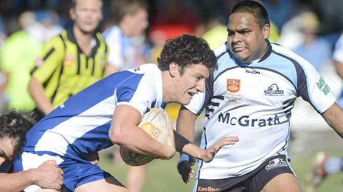 Winger Daniel Lollback during Grafton's 26-20 preliminary final win over Ballina on Sunday.