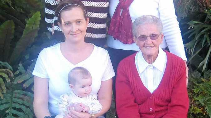 FIVE GENERATIONS: (back, from left) Helen Dodd and Margaret Gardiner with (front, from left) Erin Dodd, baby Elora and Anne Scully.