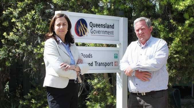State Opposition leader Annastacia Palaszczuk and deputy leader Tim Mulherin in Emerald.