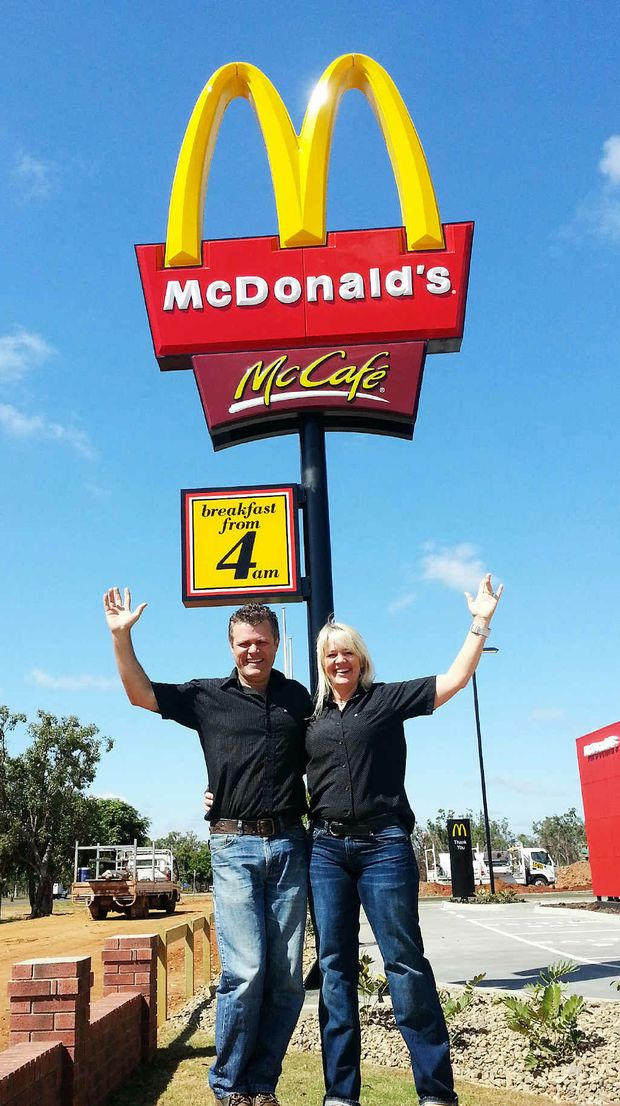 Moranbah McDonald's licensees Craig and Jane Meils are ready for the restaurant's opening tomorrow.
