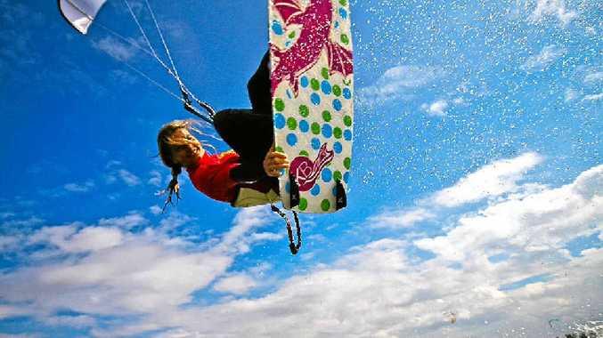 German world kitesurfing champion Kirsten Boese will offer kiteboarding for girls clinics at Noosa's Lake Weyba.