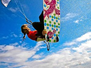 Girls zero in on kiteboarding