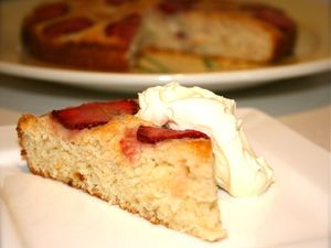 Egg-free strawberry cake