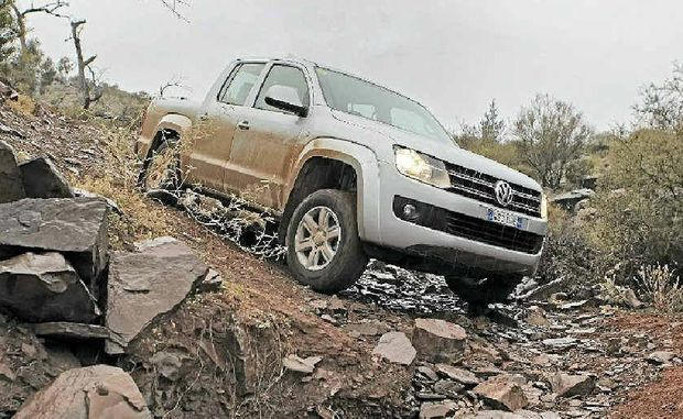 WELL-SUITED: For a commercial vehicle in this class, the new Amarok was pretty much unstoppable with the right drive selections.