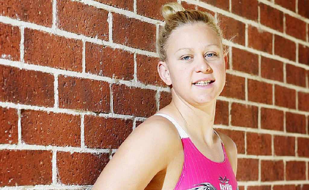 Ipswich's Paralympics swimmer Kayla Clarke is texting promising reports back from London.