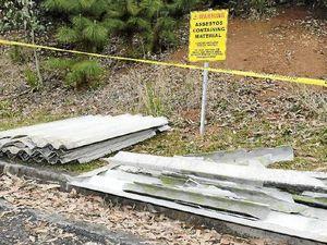 Asbestos left at kids' park