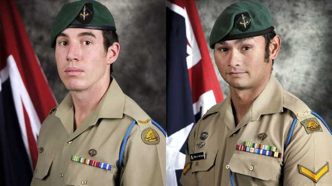 (Left) Private Nathanael John Aubrey Galagher and Lance Corporal Mervyn John McDonald.