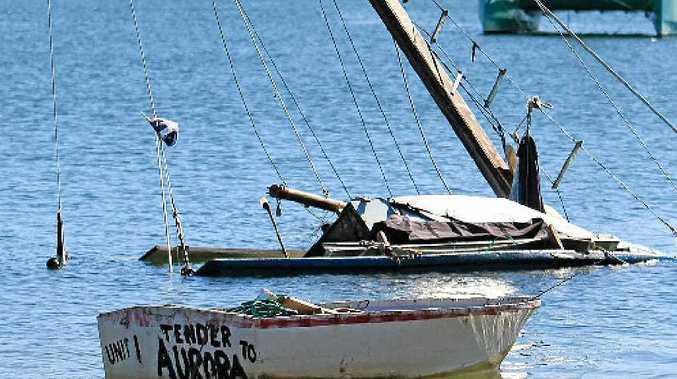 The vessel Aurora has sunk near the Mackenzie Bridge at Minyama.