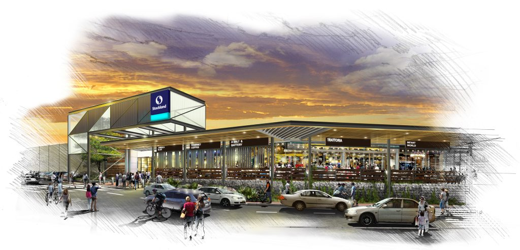An artist's impression of the proposed extensions to the eastern side of Stockland Gladstone.