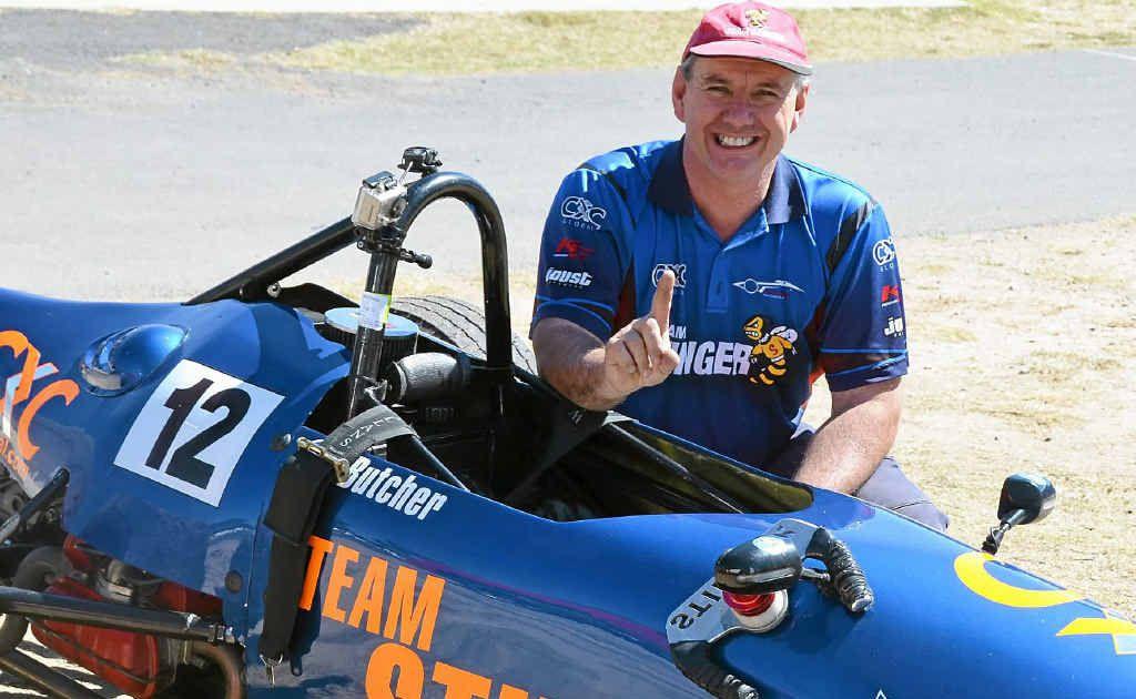 Newcastle driver Stephen Butcher set a new 1200cc record at Morgan Park Raceway yesterday.