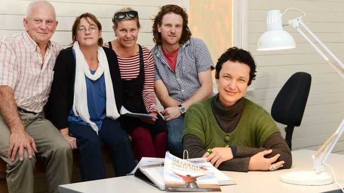 In the planning stages of the production Gods of Wheat Street are from left location manager Harry Yates , production co-ordinator Nicki Ellis, costume costume designer Loretta Egan, production designer Sam Hobbs and producer Lois Randall (front far right).