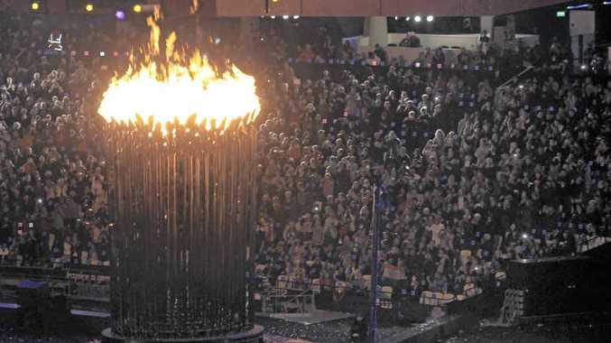 The lighting of the flame, as taken by the McCrackens, at the opening ceremony of the Paralympic Games.