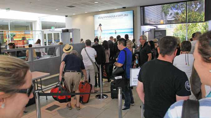 Frustration is mounting over the long queues at Sunshine Coast Airport during peak times.