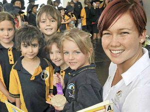 Olympian meets her little fans