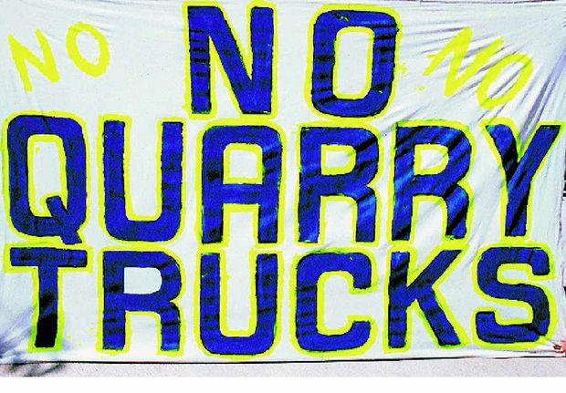 No Quarry Trucks!