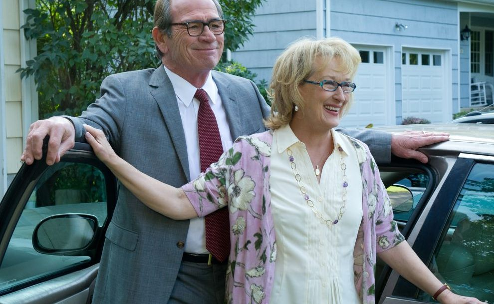 Tommy Lee Jones and Meryl Streep in a scene from the movie Hope Springs.